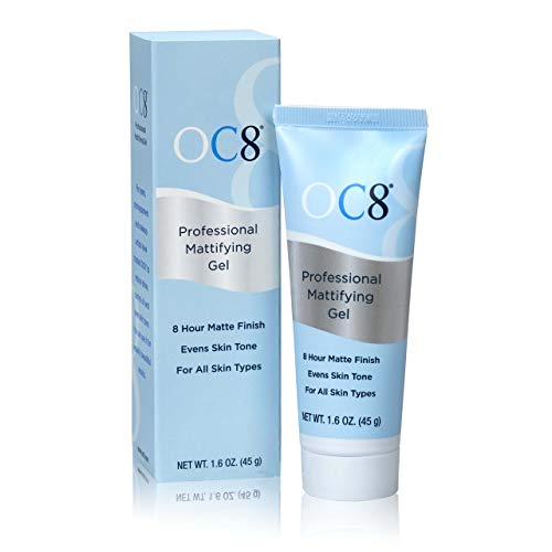 OC Eight Professional Mattifying Gel: Oil Control Mattifier Formula for Face - 1.6 Ounces