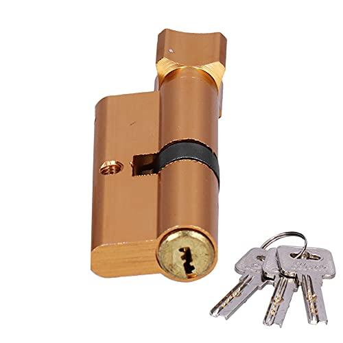 Cilindro de Bloqueo Puerta Interior Elevador Transversal Aluminio Aleación de Cobre Cerradura Pulida con 3 Piezas Llave a Juego Oficina en Casa Puertas de Madera Accesorio de Bloqueo
