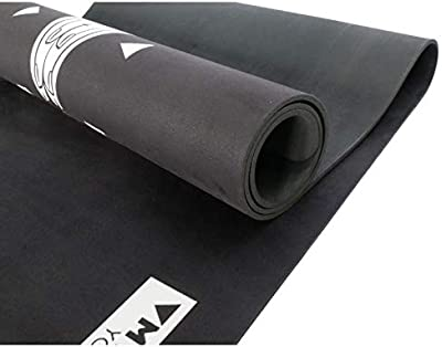 MYSTIQ Yoga | Pro Mat | Unique Designs | 5.5mm Thick | Natural Rubber + Suede | Large Mats 72x24in | Non-Slip, Eco-Friendly & Recyclable | Hot, Bikram, Pilates & Fitness | Free Strap & E-Book