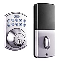 ▲【Modern Appearance Design】: The crisp, clean appearance of the Satin Nickel finish of the keypad deadbolt lock is designed to create a nice visual impression, the arctic silver color brings the overall look a modern feel, you never have to sacrifice...