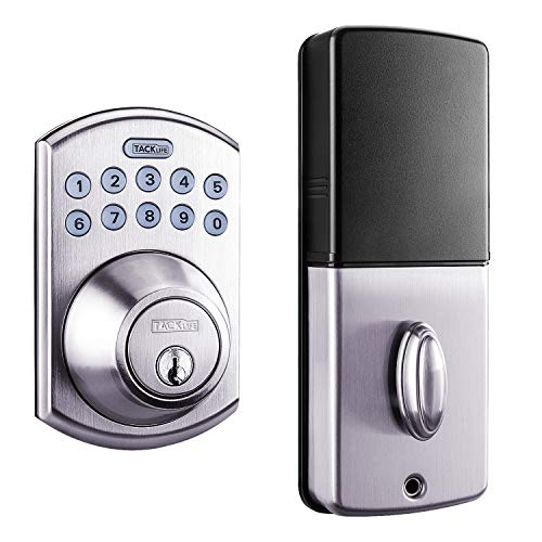 Electronic Deadbolt Door Lock, Keypad Deadbolt Lock with 1-Touch Motorized Locking, Single...