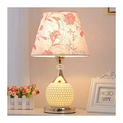 WYZ. Tafellamp, moderne romantische bureaulamp, stof keramiek, schakelaar afstandsbediening E27 x 1, woonkamer-decoratie-sofa kinderslaapkamer 's nachts