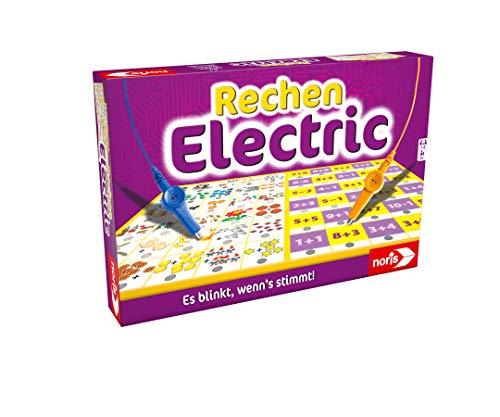 Noris 606013721 Rechen Electric, Der Lernspiel-Klassiker, was passt zusammen, Es blinkt, wenn\'s stimmt, ab 6 Jahren
