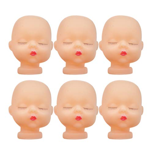 SUPVOX 10 Pieces Vinyl Baby Doll Head for Artist Hand Painting Doll Body Part Replacement DIY Crafts Keychain Accessories