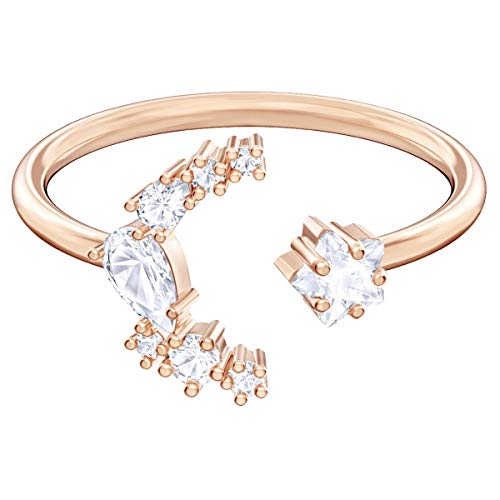 SWAROVSKI Crystal Authentic Limited Edition Penélope Cruz Moonsun Rose Gold Plated White Moon Ring, Size 7