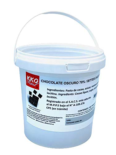 KKO REAL – Cobertura de Chocolate al 70%, con Cacao 100% Venezolano (600 gr).