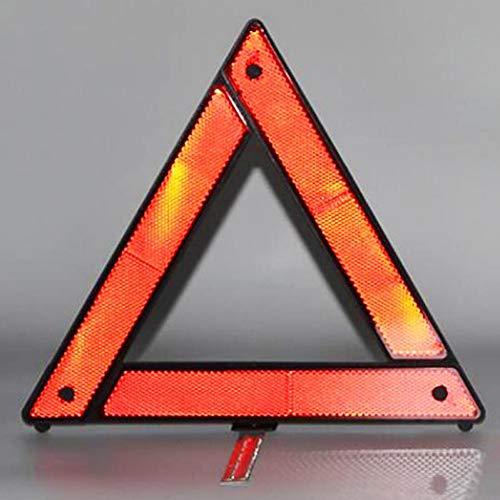 BYFRI 1pc Faltbare Warndreieck Red Notlicht Reflector Klar Alarm in Nacht Für Auto, 29cm