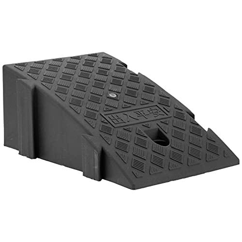 Rampa Inclinada, rampa para acera Ligera, portátil y Duradera para garajes domésticos para muelles de Carga para Entrada de Autos para Pendientes de acera(Negro)