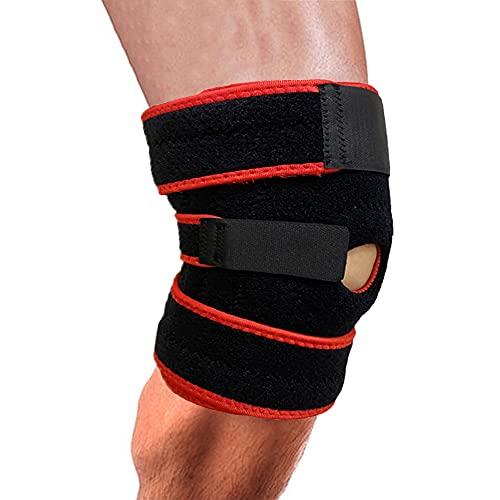 Oture Sportknieorthese mit Feder Seitlichen Stabilisatoren und Patella Gel Pads, Verstellbarer Kniebandage für Meniskusriss, Knieschmerzen, Arthritis, Knie Geschwollen, ACL, Verstauchungen