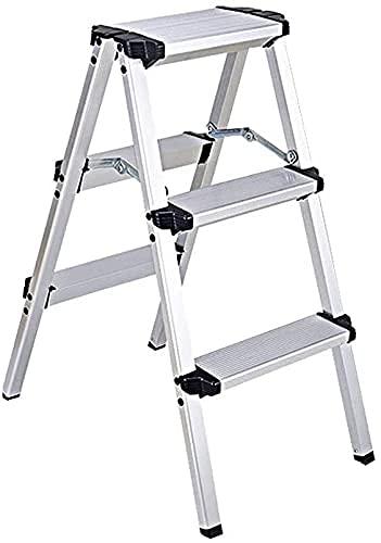 LZQHGJ XIAOYU Stepladders multibusted-Sided, la Scala di ristrutturazione della casa Portatile 2 3   4 Step Ladder Kitchen Step Sgabello Opzioni di Dimensioni Multiple (Dimensioni: 40 * 74 * 97,7 cm)