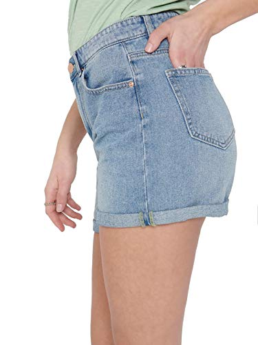 Only ONLPHINE Life Shorts BB MAS0001 Noos Pantaloncini, Light Blue Denim, XS Donna