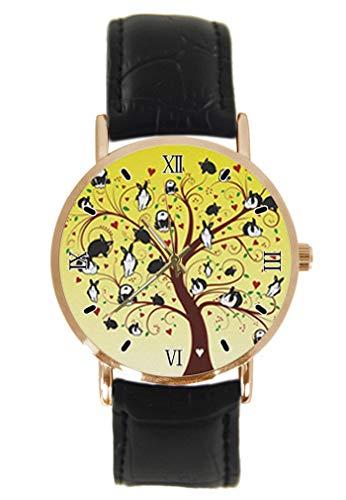 Reloj de Pulsera con diseño de Conejo y árbol de Navidad, Unisex,...