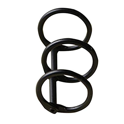 Heng 3 ringen metalen losse blad boek ring ringen universele album plakboek clips Craft fotoalbum briefpapier kantoorbenodigdheden, zwart