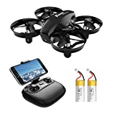 Potensic A20W Mini Drone for Kids and Beginners, RC Portable Quadcopter with 720P Camera, Altitude Hold, Headless, Route Settiing, Gravity Sensor, Real Time FPV, 2 Batteries