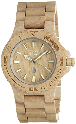 Big Sale Wewood Men's Date Beige Wooden Watch