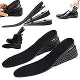 Altezza rialzata a 3 strati Solette per scarpe Ascensore Kit di sollevamento 7 cm 2.8' Cuscino d'aria unisex Cuscinetto per tallone Inserto per stivali più alto