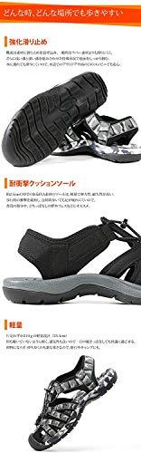 [LADWEATHER]スポーツサンダル軽量滑り止め耐衝撃メンズシューズ靴アウトドアキャンプ(ネイビー,measurement_23_point_5_centimeters)