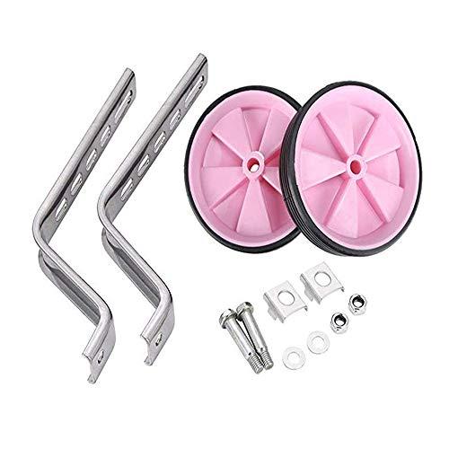 houfujunc Hilfsräder für Kinder, Fahrrad Stützräder, Um das Selbstfahrtraining der Kinder zu Unterstützen, Wird es für 12-20-Zoll-Kinderreitausrüstung Verwendet (Pink)
