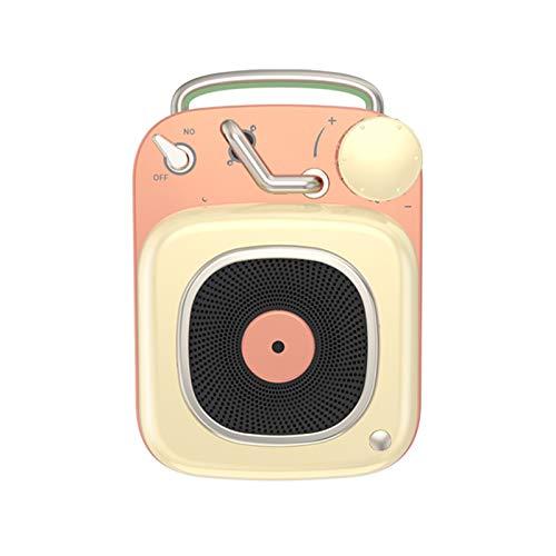 Atomic Retro-Plattenspieler Subwoofer Bluetooth-Lautsprecher Mini Im Freien Beweglichen Kreativen Geschenk-Sound,B