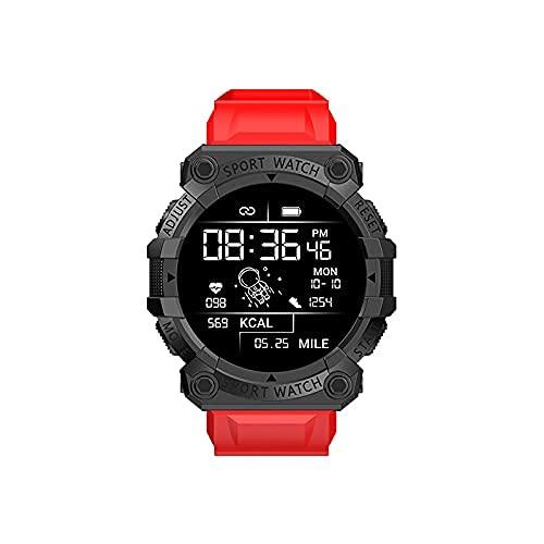LIHENG Smart Watch-1.44 HD pantalla Fitness Tracker, monitor de frecuencia cardíaca, podómetro, contador de calorías, IP67 impermeable Bluetooth reloj deportivo, para hombres y mujeres (rojo)