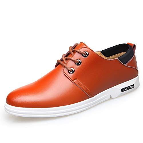 Zapatos de Cuero para Hombres Zapatos suaves de Cordones de Cuero Suave Zapatos de Primavera y Otoño Zapatos Casual transpirables de la Ciudad