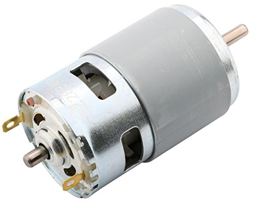 Yeeco 775DCMotor High Torque 6000RPM-12000RPM DC 12V-24V Electric Motor High Speed Power Ball Bearing Electric Motor Output Shaft DC Motor Driver for DIY Parts