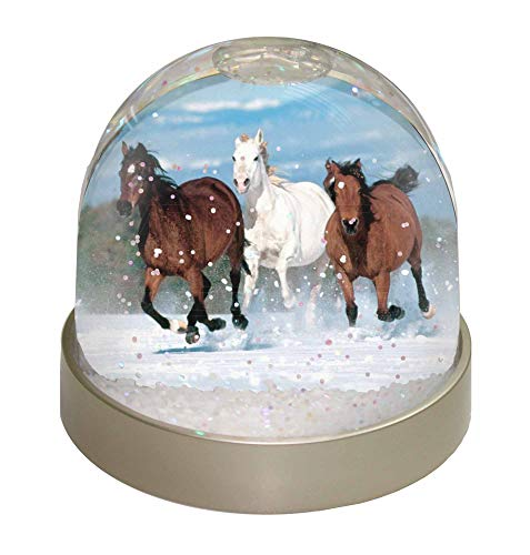 Advanta Group Laufende Pferde, Schnee, Wasserball, Plastik, Mehrfarbig, 9.2 x 9.2 x 8 cm