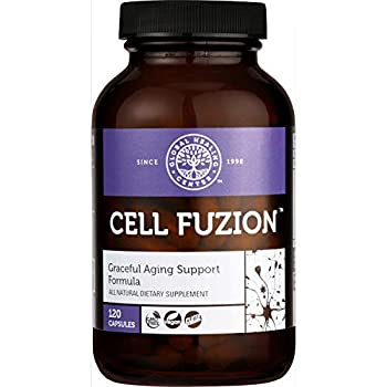 Global Healing Cell Fuzion Advanced Antioxidant Formula Supplement with Trans Resveratrol & Organic Astragalus - Natural Energy Supports Brain & Cardiovascular Health Graceful Aging - 120 Capsules