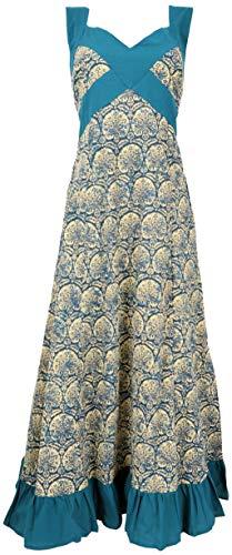 Guru-Shop Sommerkleid, Maxikleid, Strandkleid, Damen, Petrol, Baumwolle, Size:S/M (40), Lange & Midi-Kleider Alternative Bekleidung