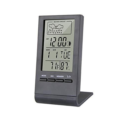 Lixiaonmkop Thermometer Hygrometer Messuhr Indoor/Outdoor Wetterstation Automatische elektronische Temperaturfeuchtigkeit Monitoruhr (Color : CX 220 White)