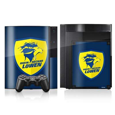 DeinDesign Skin kompatibel mit Sony Playstation 3 Folie Sticker Rhein-Neckar-Löwen Offizielles Lizenzprodukt Handball