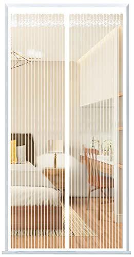 Heypres Flygskärm balkongdörr, insektsnät magnetisk gardin, flygskärm magnettur, insektsdörr utan borrning, automatisk stängning, för balkongdörr och altandörr. 95 x 220 cm