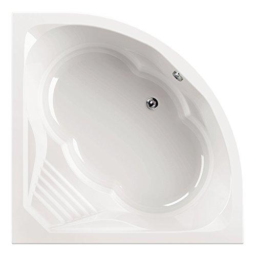 aquaSu® | 88108 1 Acryl - Badewanne cascaDe 150 x 150 cm | Weiß | Wanne | Badewanne | Bad | Badezimmer