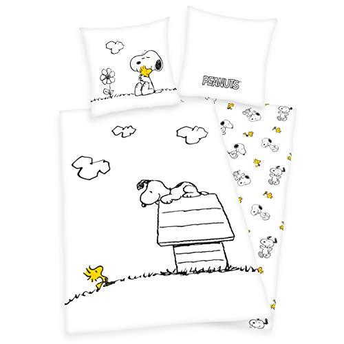 Peanuts Snoopy Tweety - Juego de cama (funda nórdica de 135 x 200 cm y funda de almohada de 80 x 80 cm)