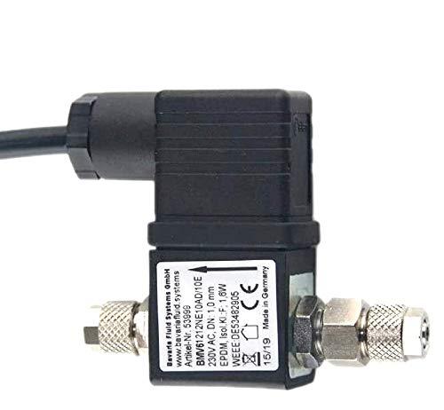Valve magnétique de CO2 standard - Marque Bavaria Fluid Systems - Fabriquée en Allemagne - Câble extra long