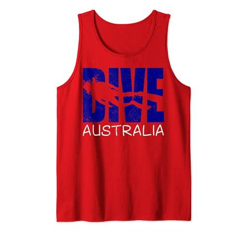 Hombre Buceo Australia Diversión Buceo Aventuras Para Hombres Buzos Camiseta sin Mangas