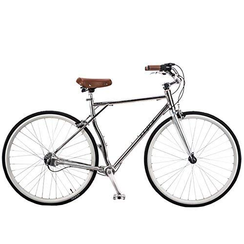 TYT 700C Kettenloses Straßenrennrad, Retro-Fahrrad Mit 3-Gang-Wellenantrieb, Harter Rahmen Aus Aluminiumlegierung (B),Ein