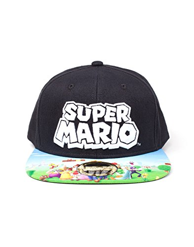 Nintendo Snapback Cap Super Mario Logo With Printed Bill