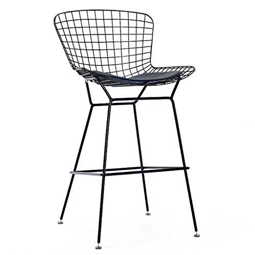 Barhocker Höhe Stühle Sessel mit 4 Beinen und Multiple Color Arcade Hocker (Color : Black)