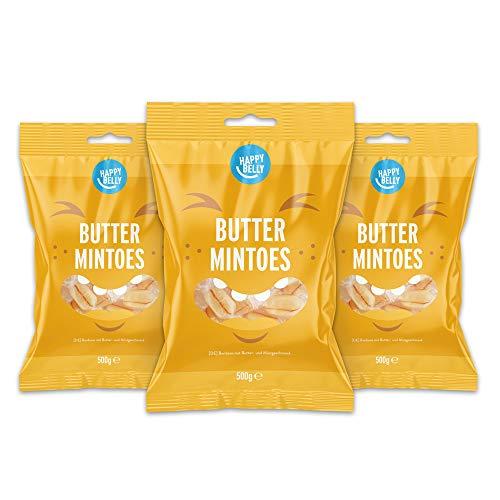 Amazon-Marke: Happy Belly - Bonbons mit Butter- und Minzgeschmack, 3x500g