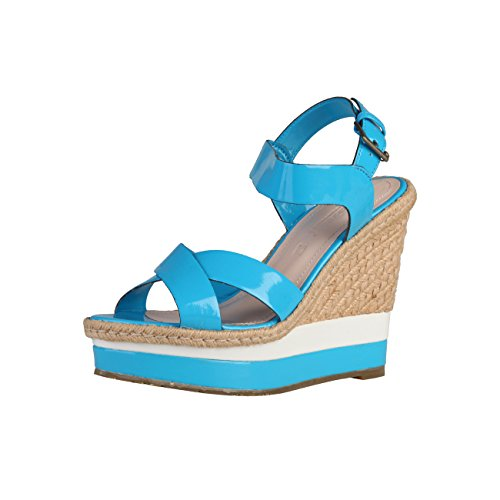Primadonna schuhexpress, PR99-03VER_turchese, sandali con zeppa, da donna, taglia 38, colore: Blu, Blu (Blu), 38 EU