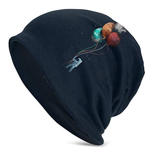 Rcivdkem Astronaut Balloon Capsule Astronaut Unisex Beanie Hat Gorro de Punto de Calavera Liso con puños