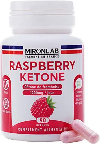 Raspberry Ketone | Complément Alimentaire Minceur | Cétone de Framboise | Brûleur de Graisse Idéal Régime Keto | Pur extrait Fortement Dosé | 90 gélules végétales | Façonné en France MironLab®