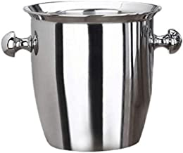 SBWFH Stainless Steel Thickened Ice Bucket Wine Cool Champagne Cooler Ice Bucket for Hotel Bar KTVs Kitchen Party Barware