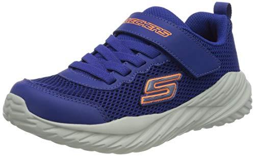 Skechers Nitro Sprint Krodon, Zapatillas Niños, Azul (Blue/Orange), 32 EU