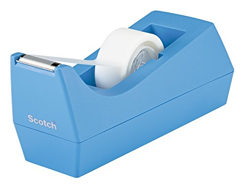 Scotch Classic Desktop Tape Dispenser, Periwinkle, 1 in Core, Made from 100% Recycled Plastic, 1 Dispenser (C-38-PR)