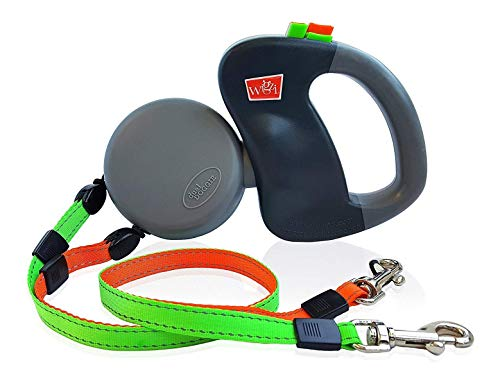 WIGZI (2) Two Dog Reflective Retractable Pet Leash – 360 Degree Zero Tangle Patent - Two...