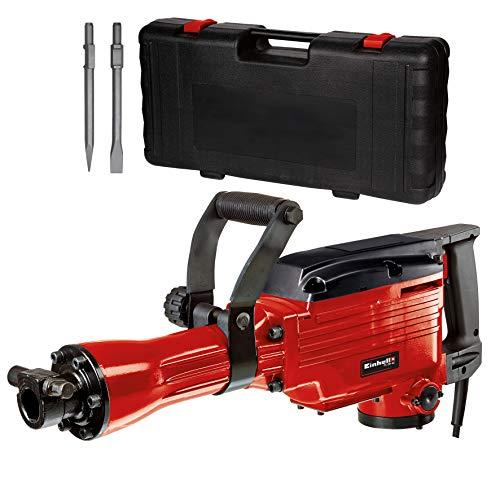 Einhell 4139087 TC-DH 43 - Martillo demoledor, cabezal SDS, fuerza de percusión 43 J, 1500 rpm, 1600 W, 230 V, rojo