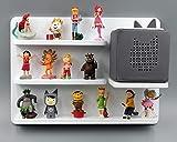 Kinder Regal für Toniebox Musikbox - Geeignet für Tonie Tonies ® - zum Aufhängen weiß magnetisch - als Geschenk - tolle Geschenkidee zum Spielen und Sammeln…