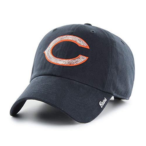 OTS NFL Chicago Bears Women's Team Color Sparkle Challenger Adjustable Hat, Team Color, Women's